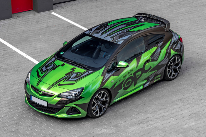 Opel Astra OPC - Green / Gold