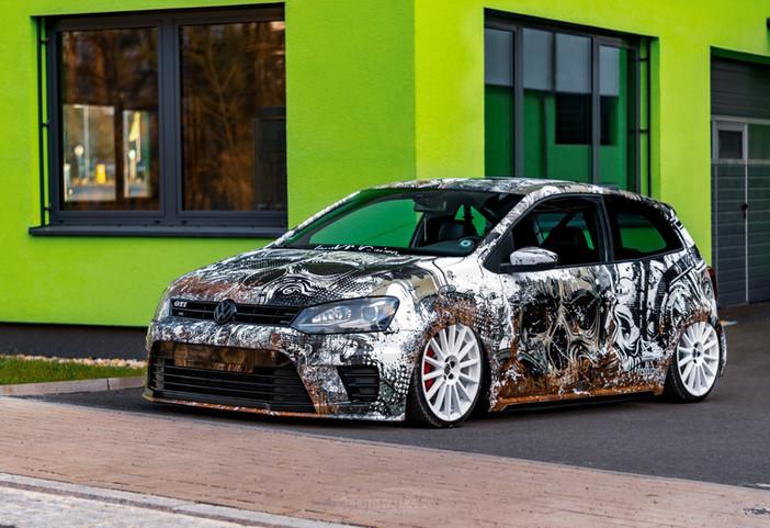 VW Polo in Dirty Skulls Look