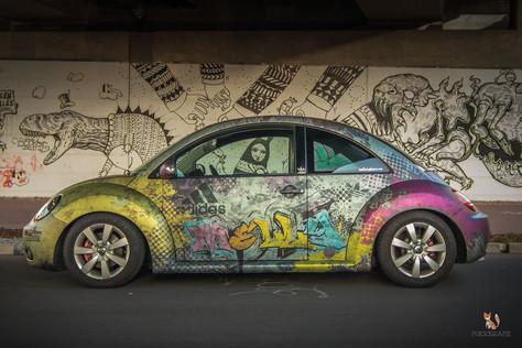 VW New Beetle Digitaldruck