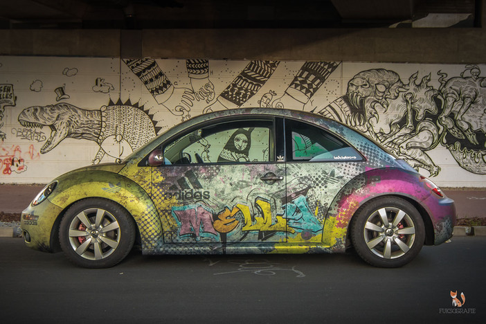 VW New Beetle Digitaldruck