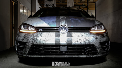 "VW Golf 7 R - Digitaldruck ""Thunder"""