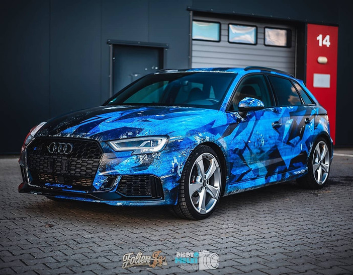"Audi RS3 ""TwoFace"" Digitaldruck Folierung"