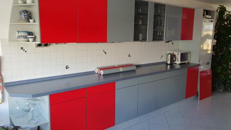 Küche nach der Folierung
