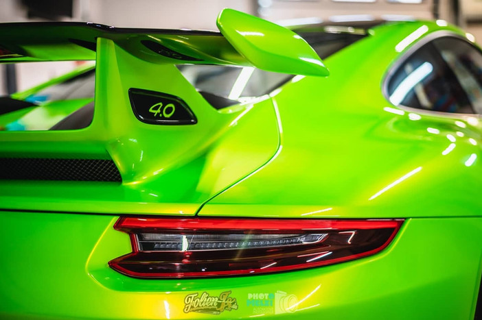 """Porsche GT3 in """"Wasabi Grün"""" + Kompletter Lackschutz"""