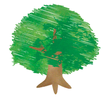 おひさま保育園:シンボルツリーイラスト