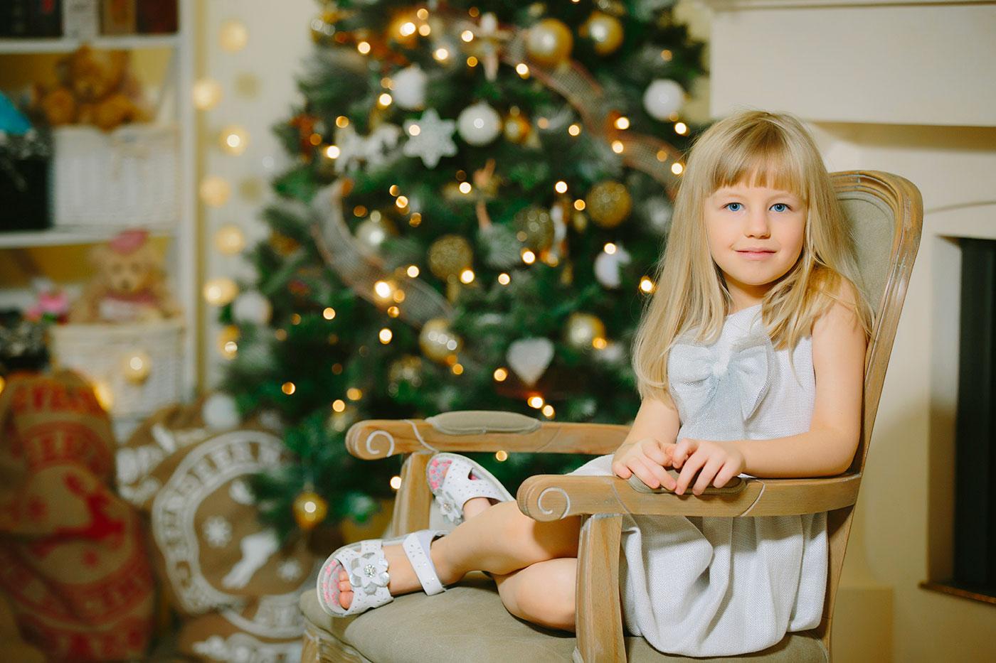 Ziemassvētku fotosesija studija