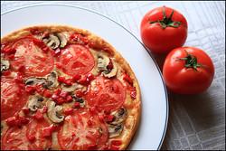 Pizza, ēdienu foto