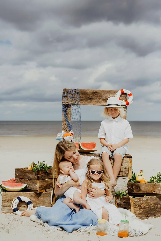 Ģimenes fotosesija Jūrmalā
