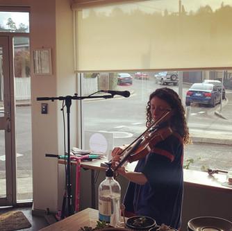 Emily on violin