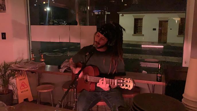 Sebastien on guitar