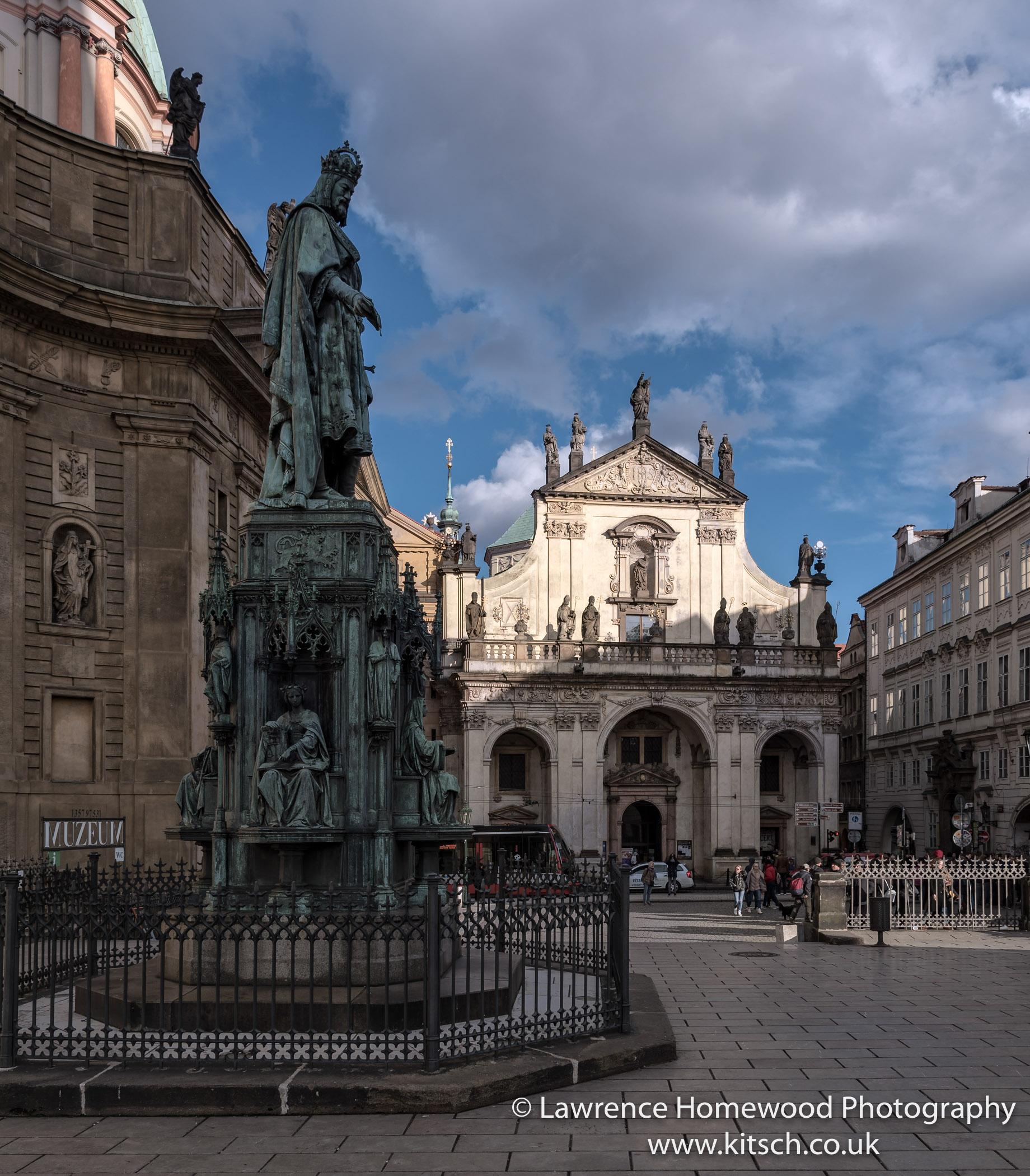 Charles IV Statute next to Charles Bridge