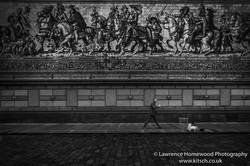 Dresden Processionof Princes Wall Mural b-w