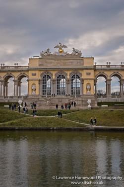 Schonbrunn Gardens Gloriette portrait