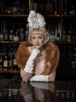 Dolly Delicious at the bar