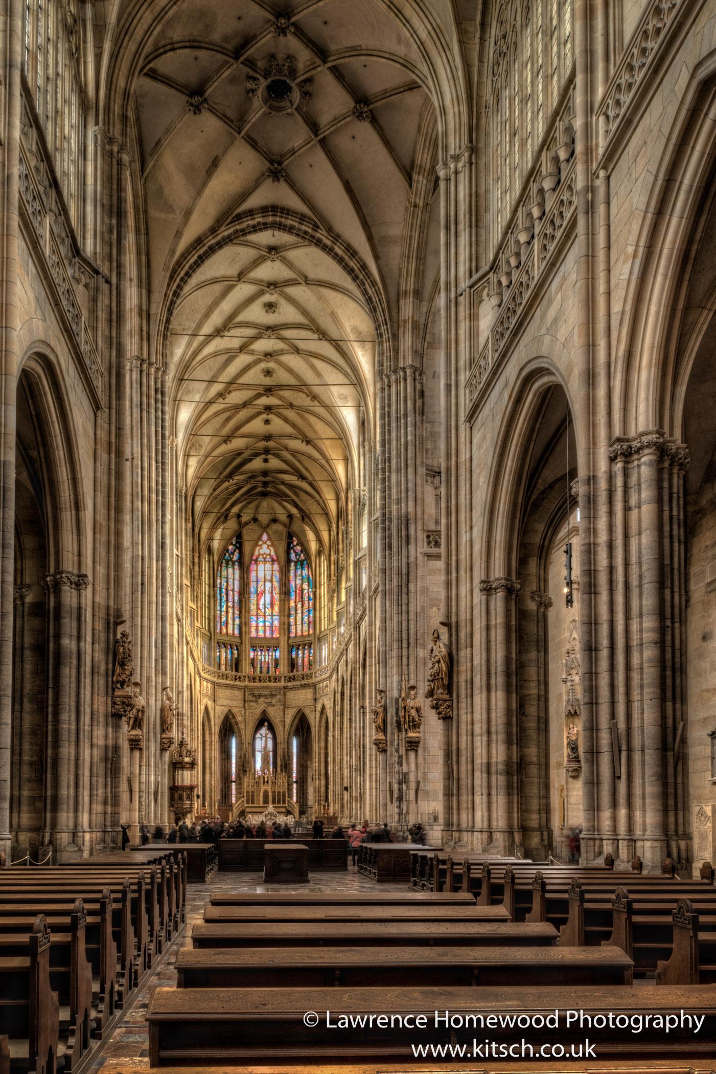 St Vitus Cathedral Prague Interior 2