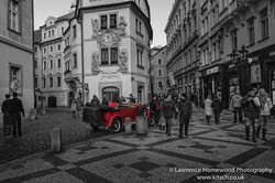 Red Car Prague Streets-3