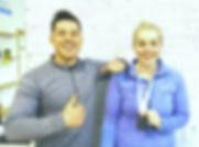 Ciara Palmer wins Irish Powerlifting competion in Ladies Dead Lift division with Coach Finn Glenn of Real World Combat & Fitness gym Kenmare