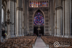 Reims Cathedral Interior to the door-2