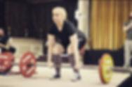 Ciara Palmer deadlifting at Irish Powerlifting competition 2017
