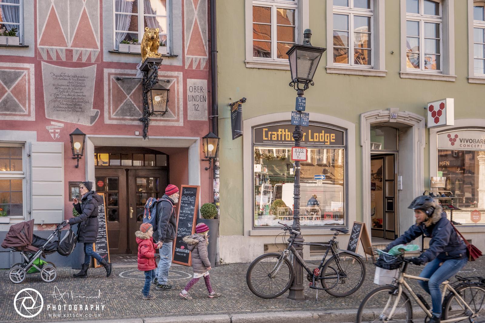 Freiburg Street Scene Life Moves On