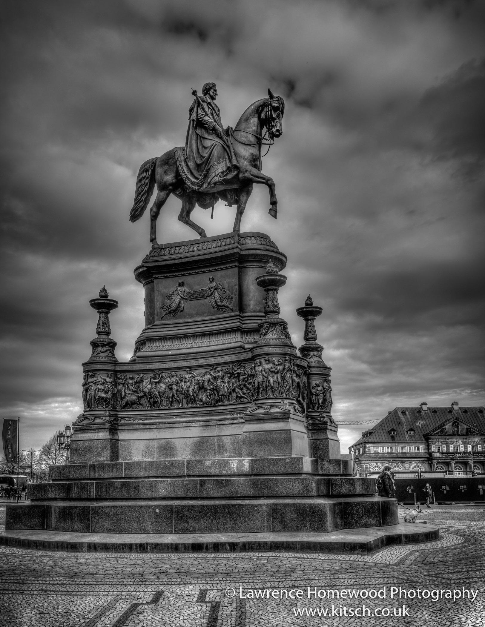 Equestrian Statue King John Dresden