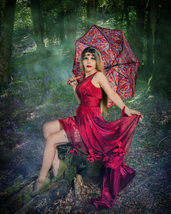 Under the umbrella in Bell Wood pdi