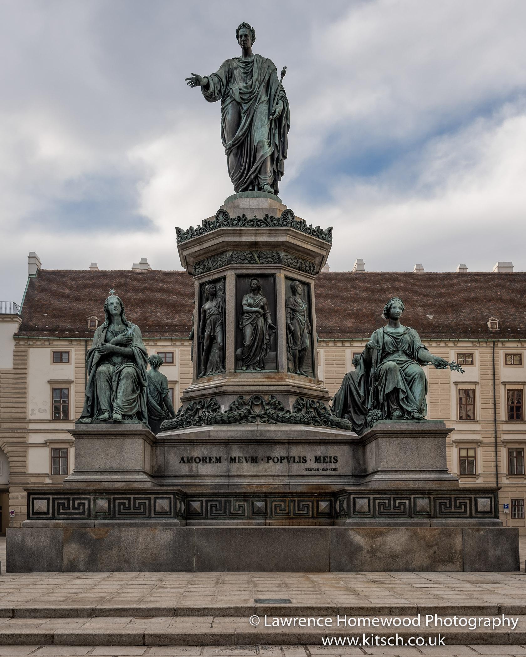 Vienna Hofberg Palace statues