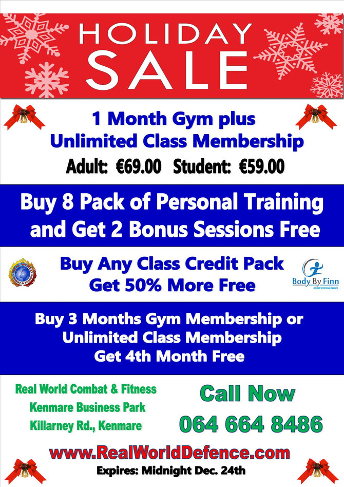 Holiday Special Offers at Kenmare's Gym