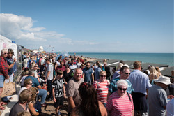 Crowds flock to see the Mermaids