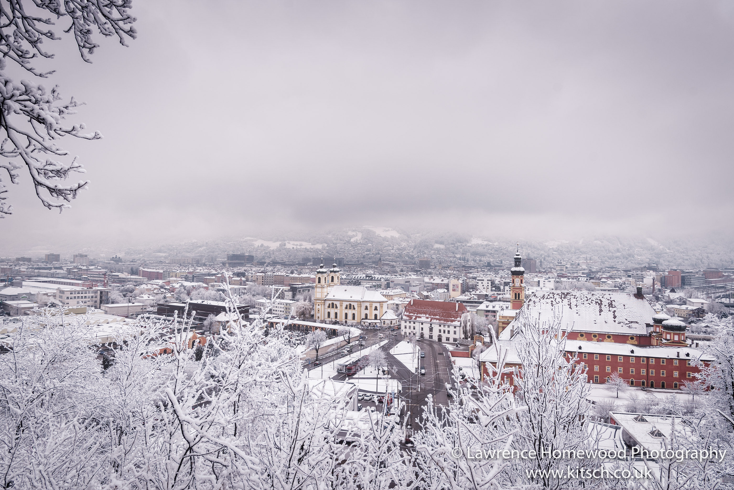 Innsbruck in the Snow View
