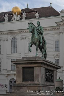 statue of Emperor Joseph II in Josephplatz Hofberg Palace