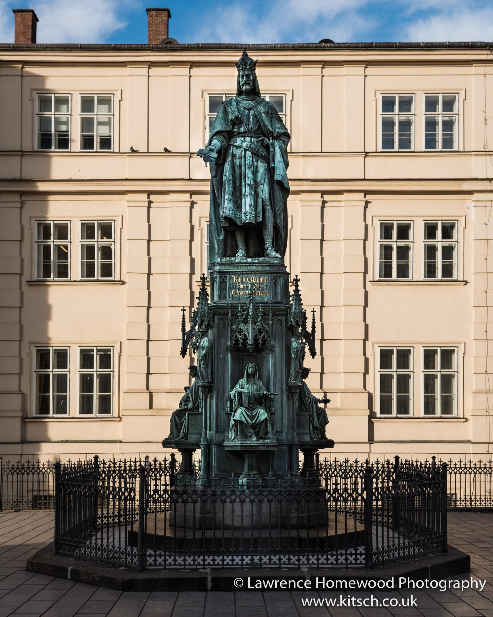 Charles IV Statute next to Charles Bridge 1