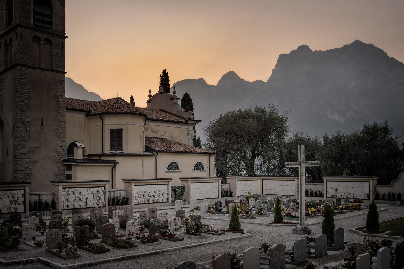 Torbole-Church-sunset