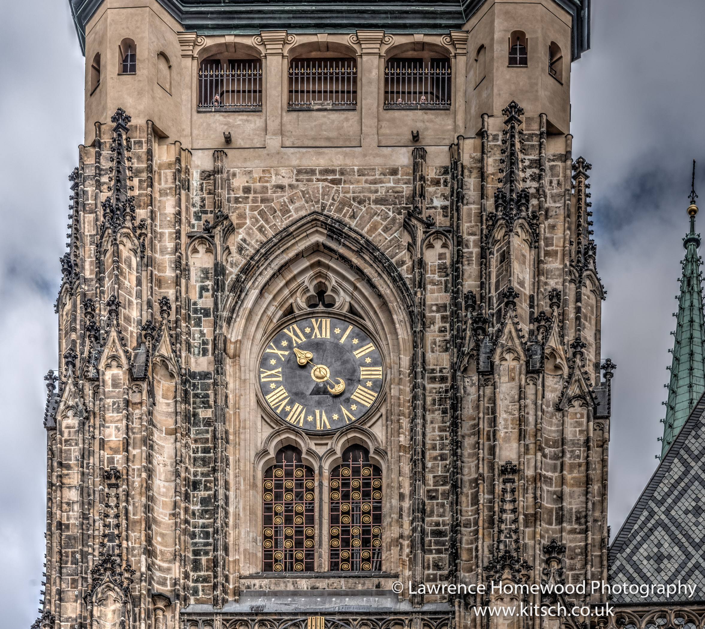 St Vitus Cathedral Prague clockface