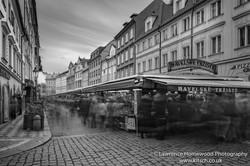 Buzzing Market Stalls Prague