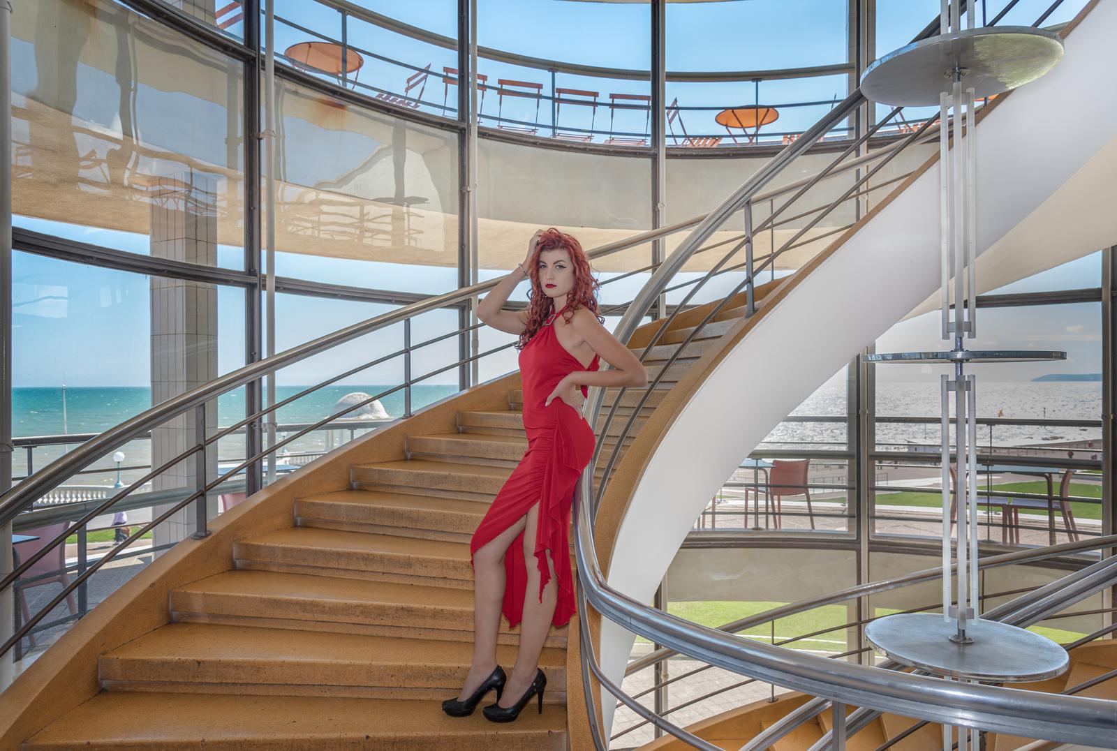 Lady in Red De La Warr Pavilion