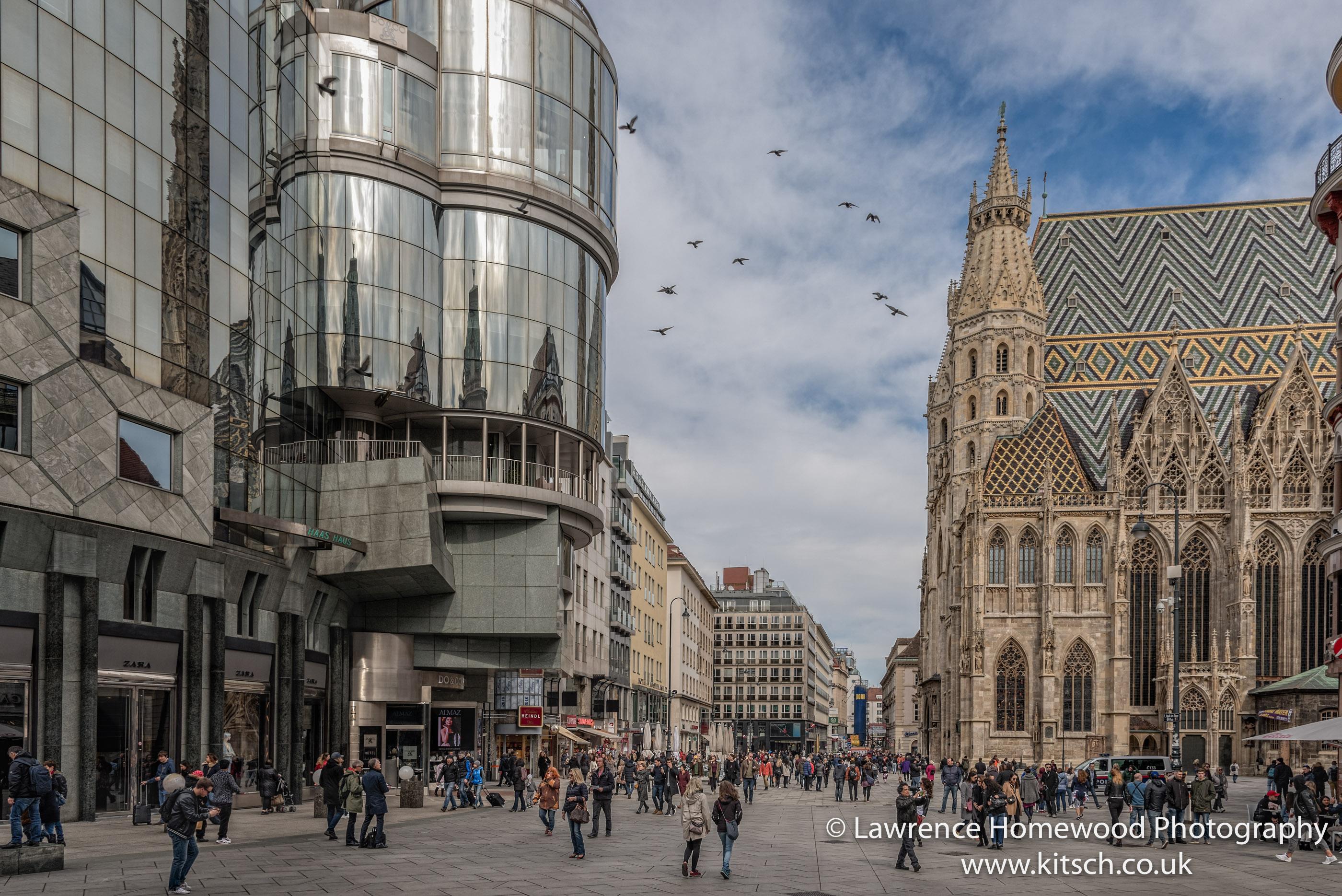 Stephensdom Street View Vienna