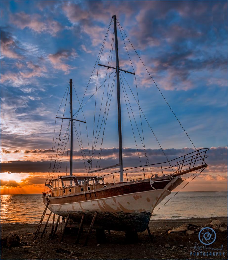 Rustic Ship Sunrise