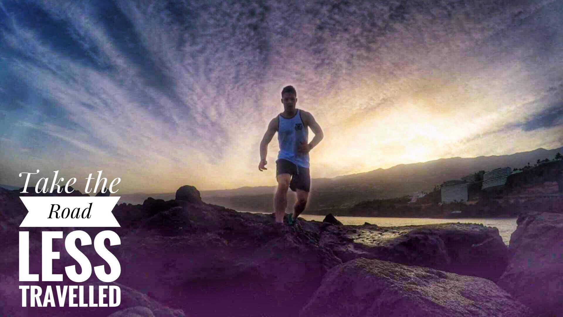 Road less travelled Irelands personal trainer sunset runner body by finn glenn fitness coach kenmare