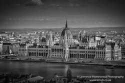 Budapest Parliament (Buda View) b-w
