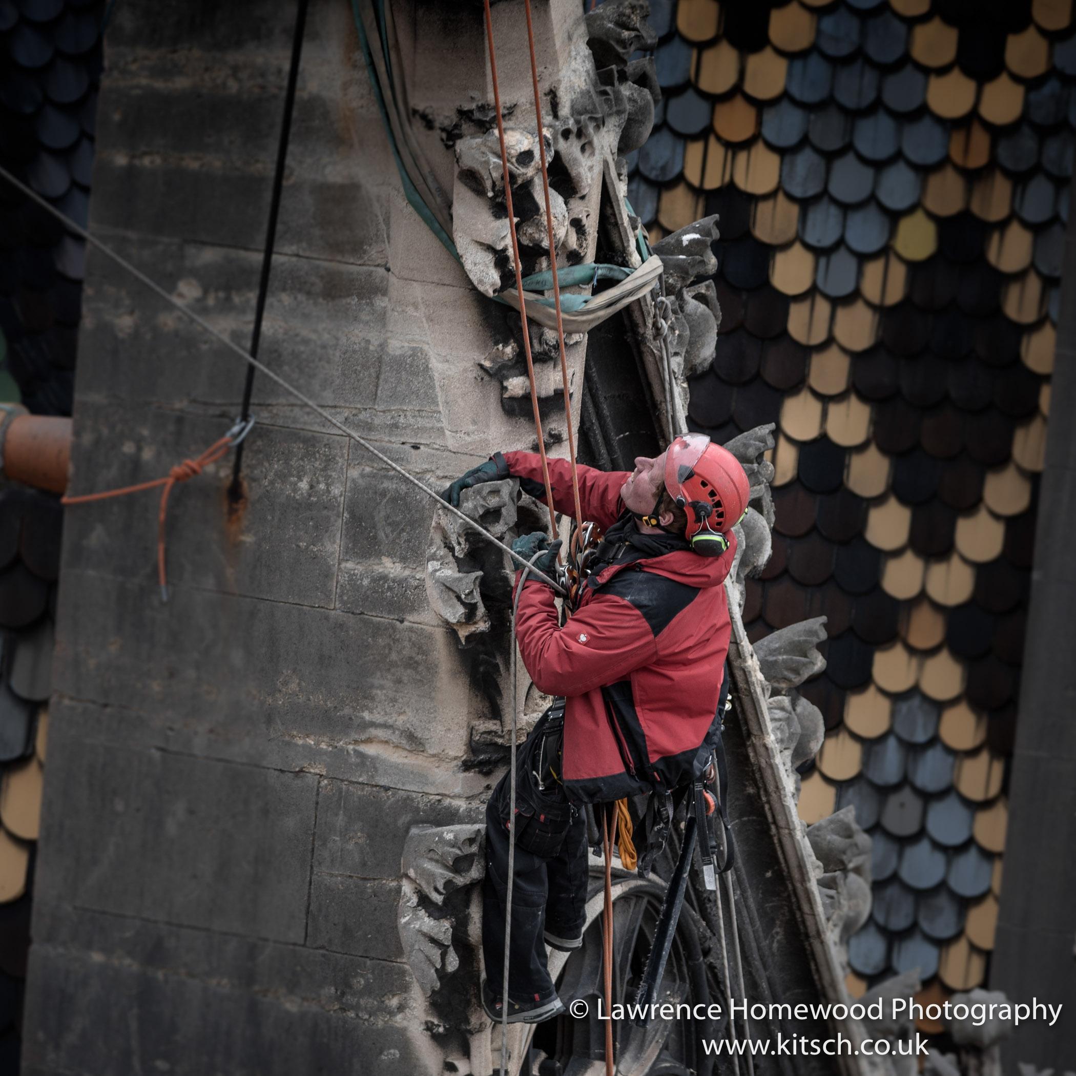 Stephansdom Repairing the steeple