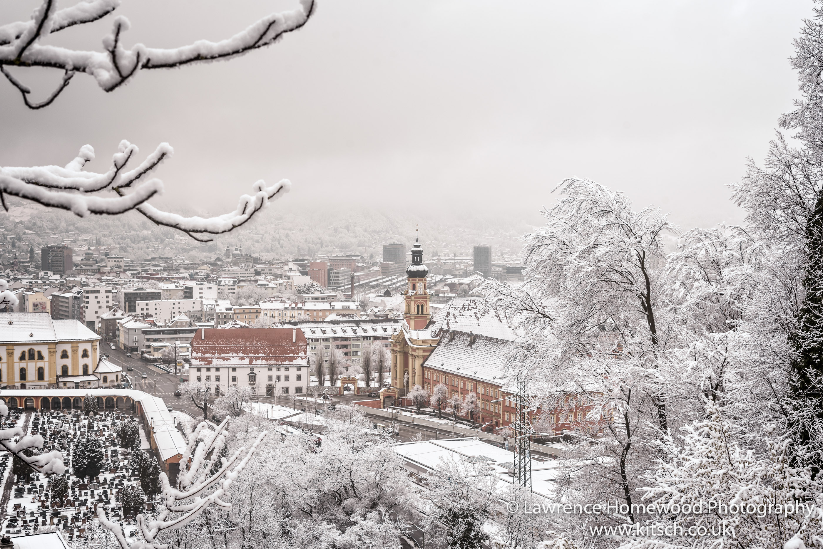 Innsbruck in the Snow Closeup