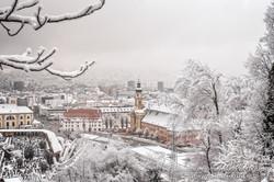 Innsbruck in the Snow Closeup