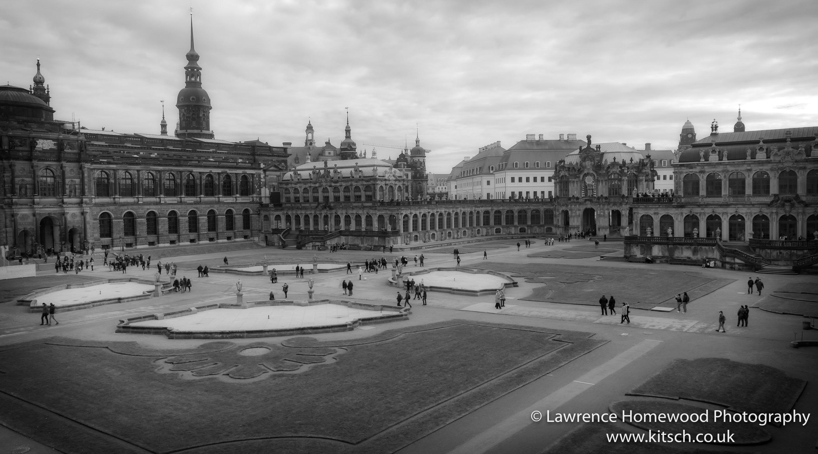 Dresden Zwinger and Gardens B-W