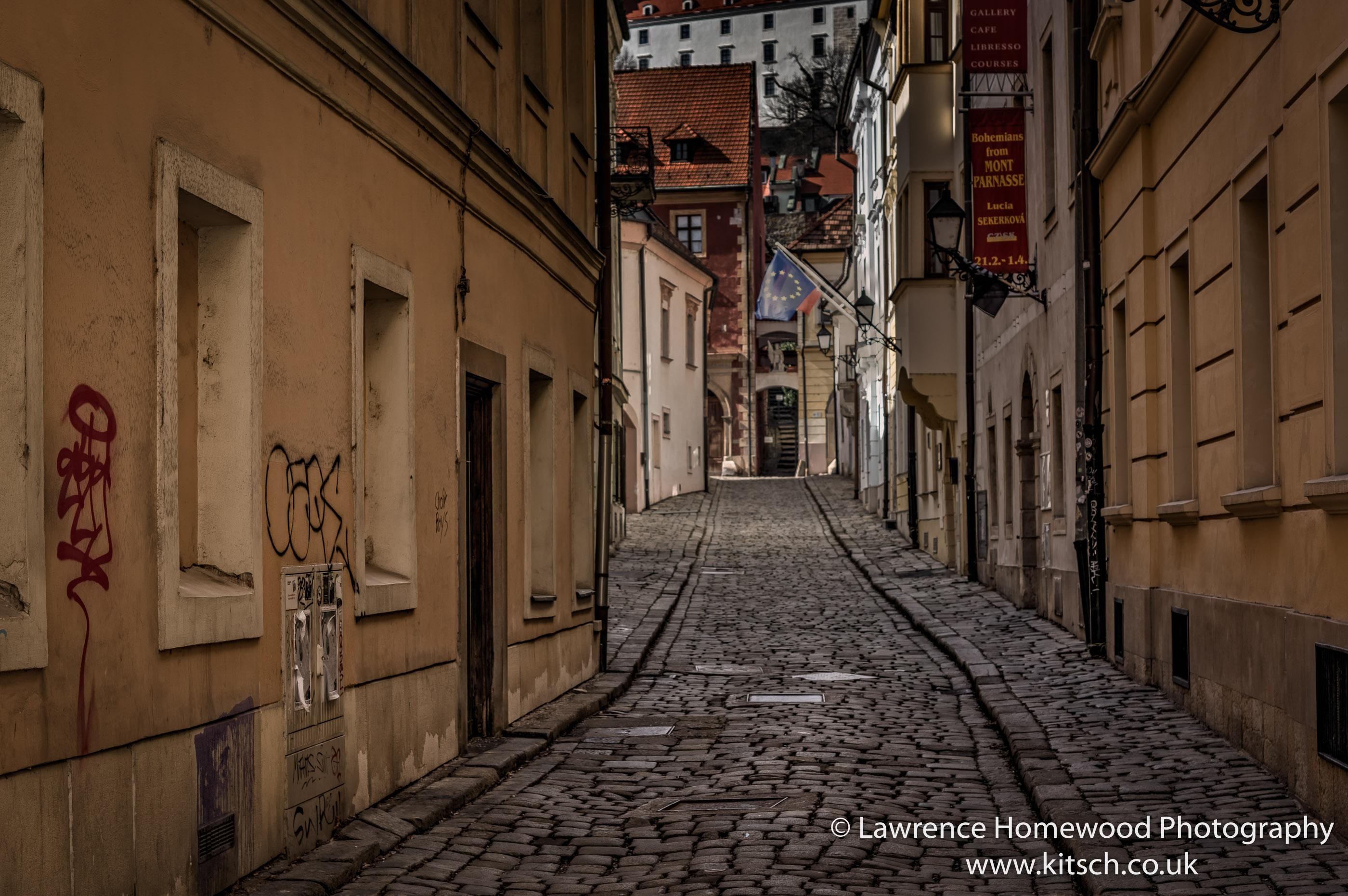 Bratislava Narrow Empty Streets_