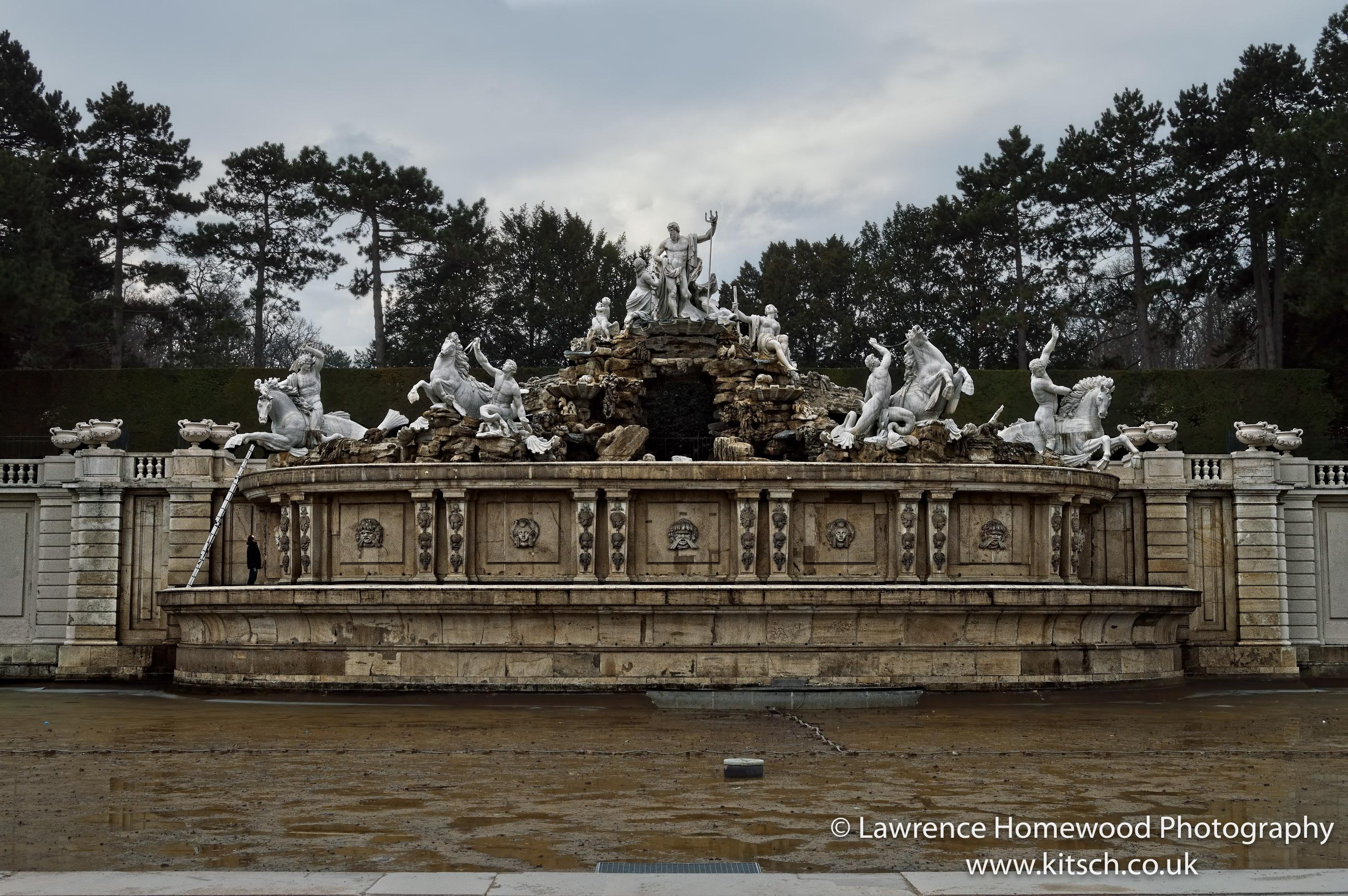 Schonbrunn Gardens Neptune Fountain