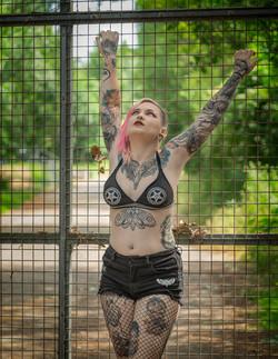 Jayne Horror The Cage Photoshoot
