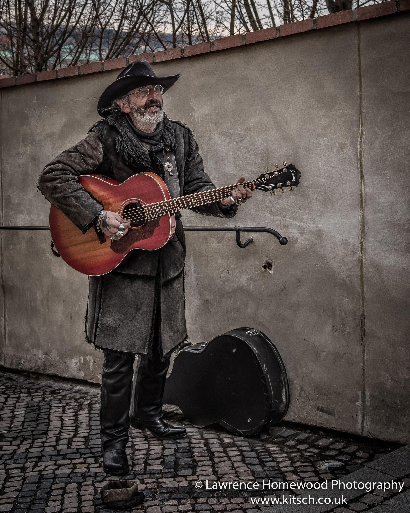 Rock and Roll street Musician Prague