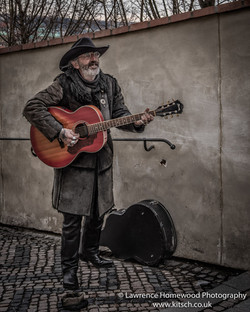 Rock and Roll street Musician Prague