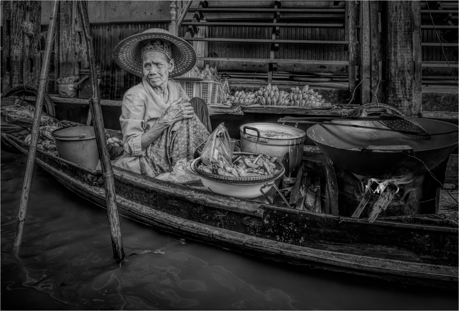 Floating Market Old Lady Vendor